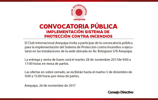Noticias   Club Internacional Arequipa